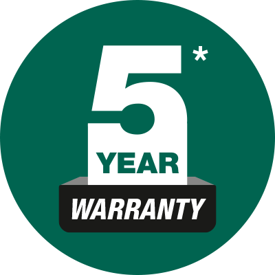 Feature Icon - 5 Year Warranty