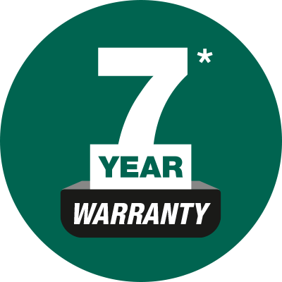 Feature Icon - 7 Year Warranty