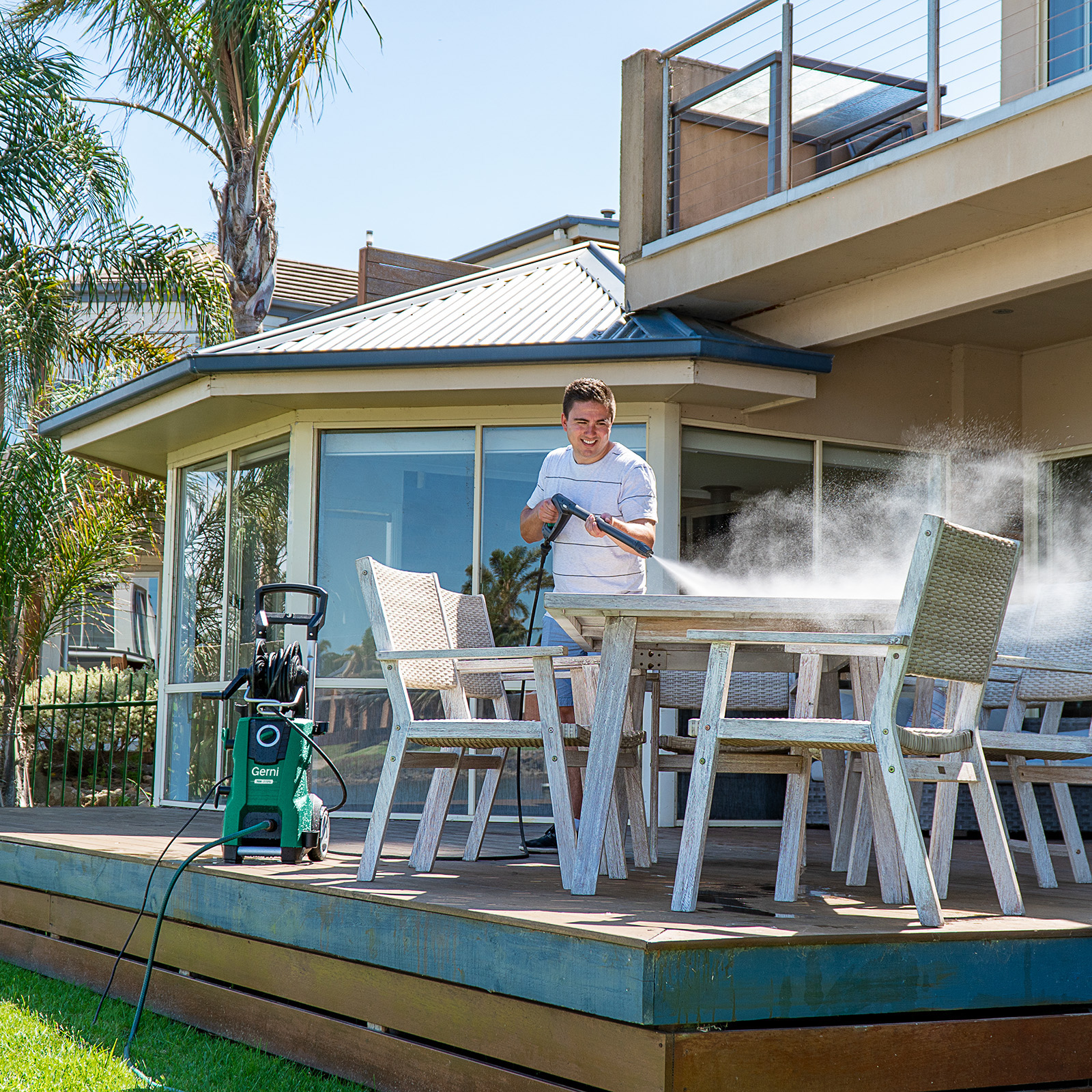 Gerni 7000 - Application Usage - High Pressure Washer Outdoor Furniture