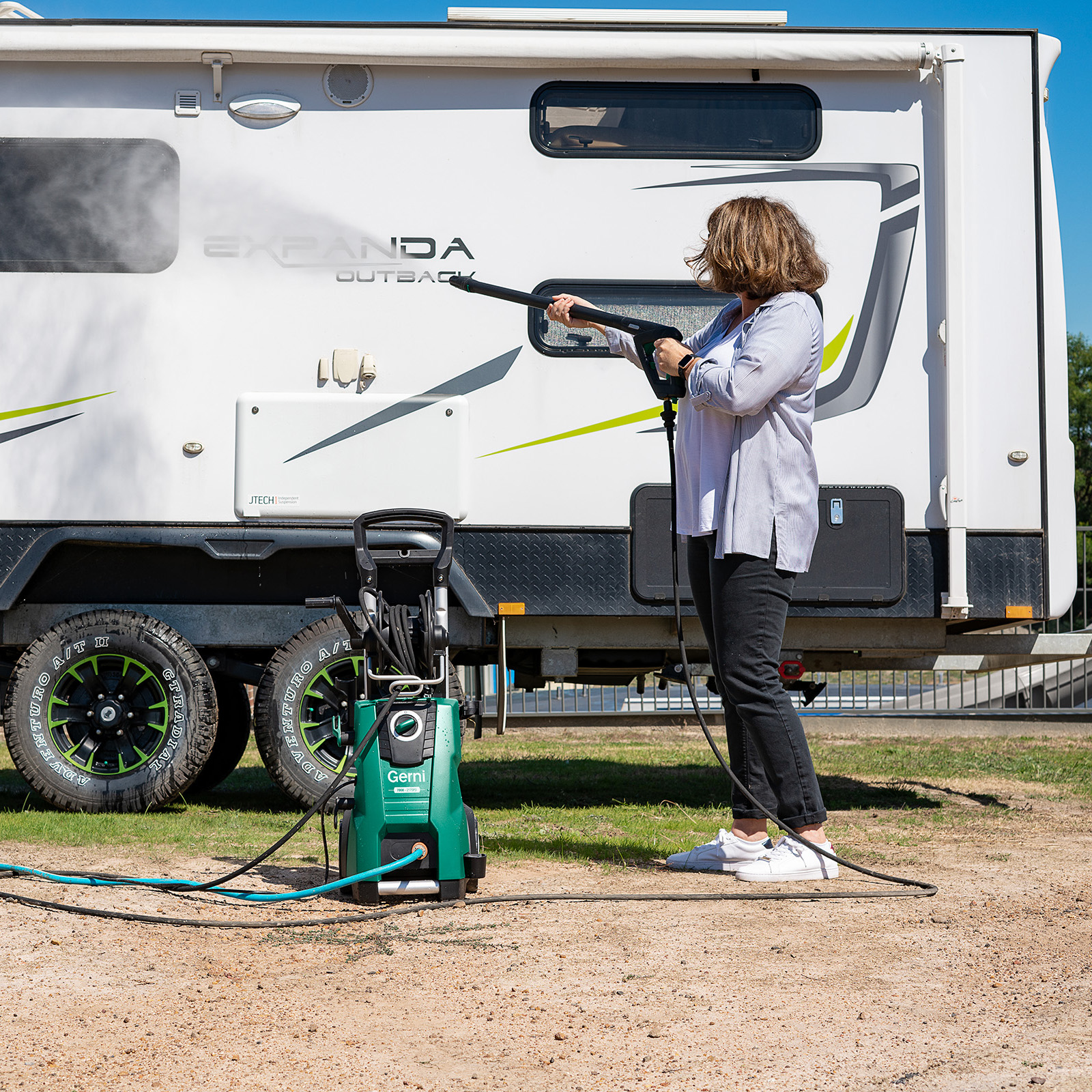 Gerni 7000 - Application Usage - High Pressure Washer Caravan