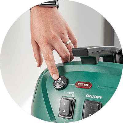 Feature Icon - Gerni 9000 - Push Button Filter Cleaning