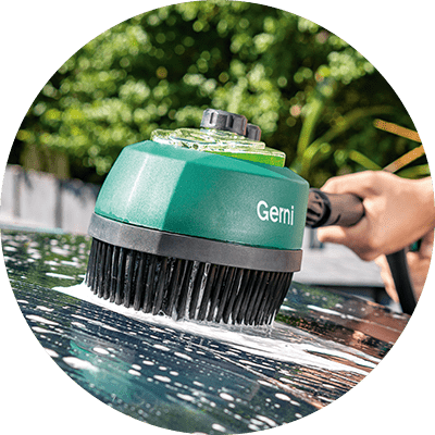 Feature Icon - Rotary Detergent Brush - Gentle on Paint