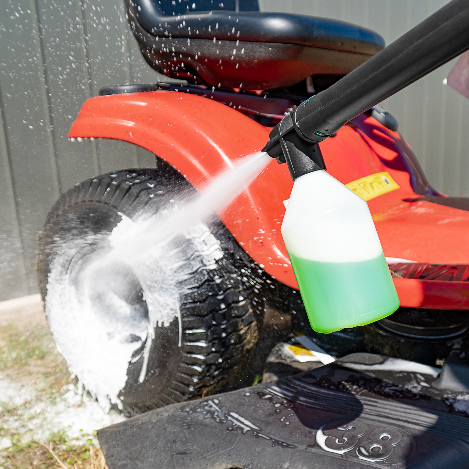 Gerni Foam Sprayer - Multi Wash Detergent - Garden Ride-On Lawn Mower