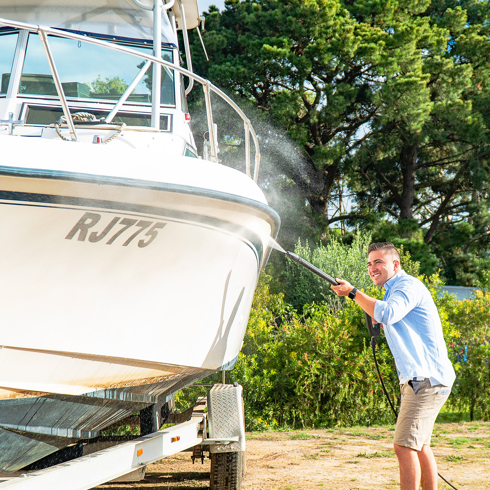 Gerni Pressure Wash Boat